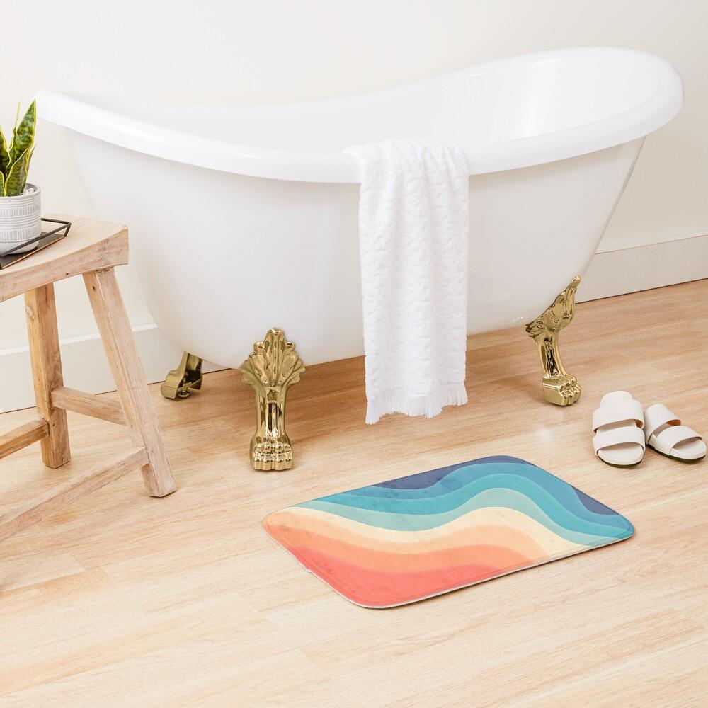 Retro color wave Bath Mat