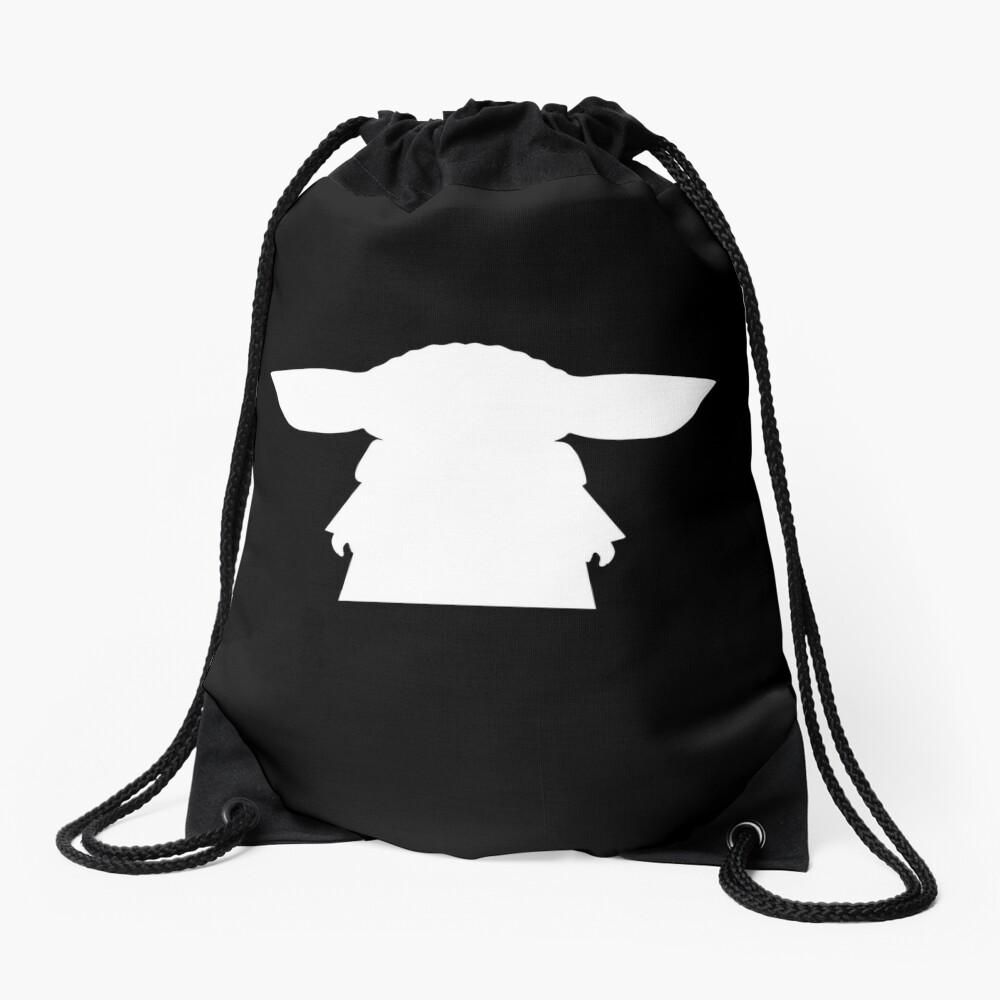 Alien Silhouette Drawstring Bag