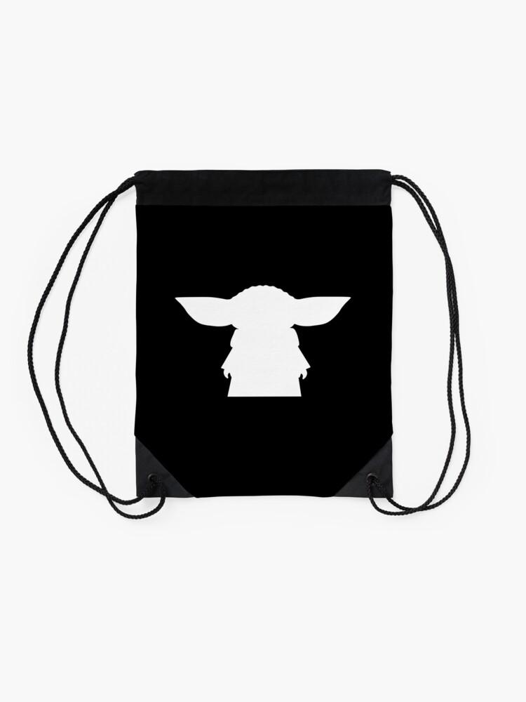 Alternate view of Alien Silhouette Drawstring Bag