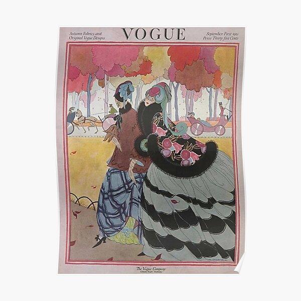 Vintage Vogue Magazine cover - September 1921 Poster