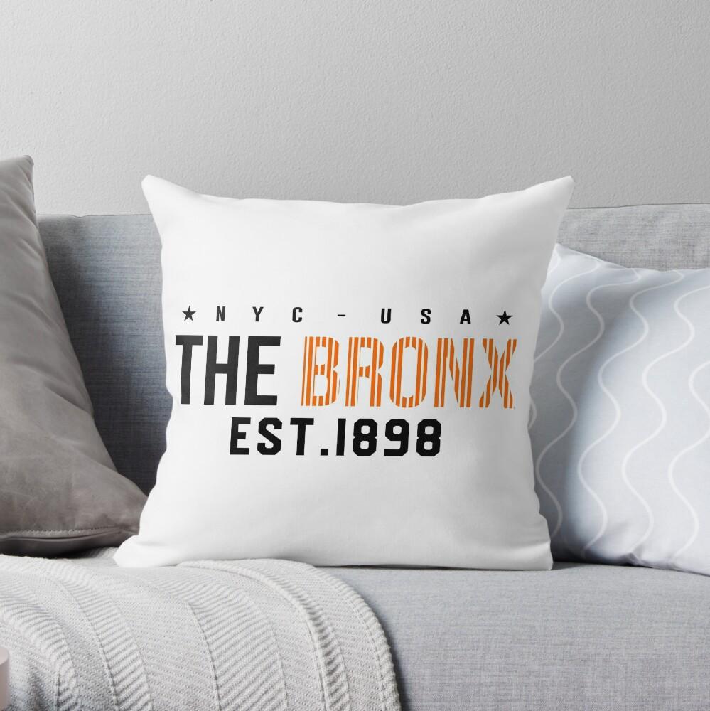 New York City the Bronx EST.1898 Throw Pillow