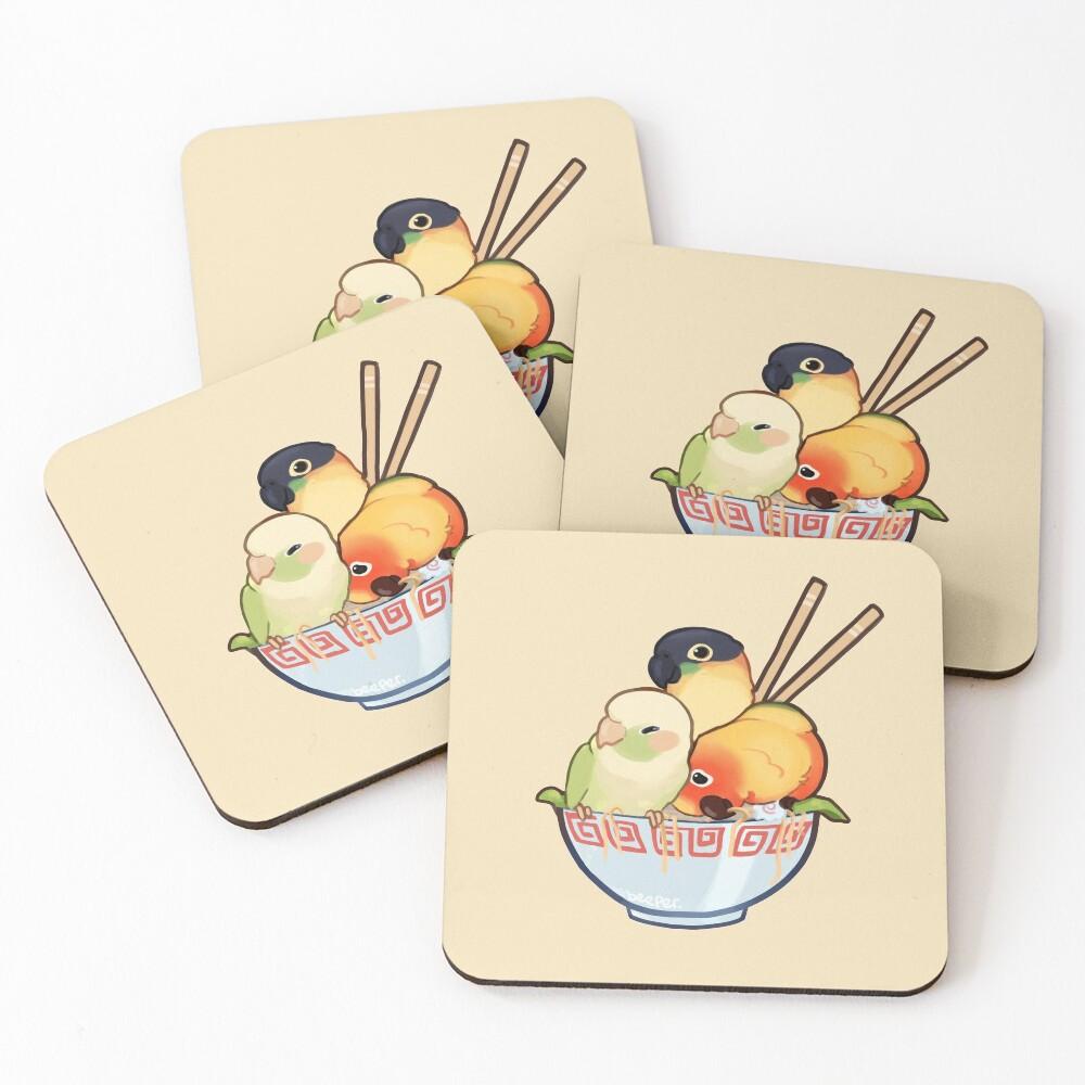 Bowl of birbs  Coasters (Set of 4)