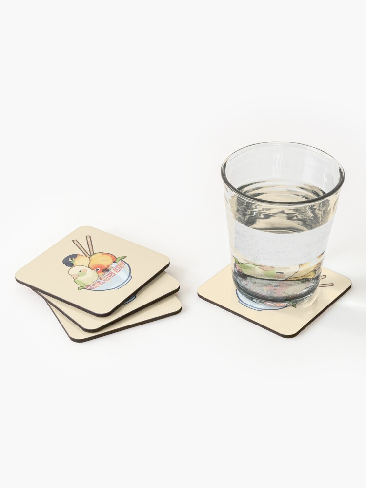 Alternate view of Bowl of birbs  Coasters (Set of 4)