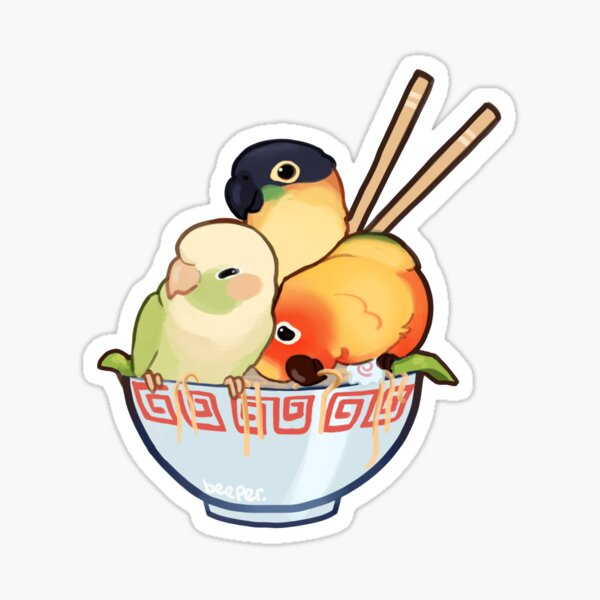 Bowl of birbs  Sticker
