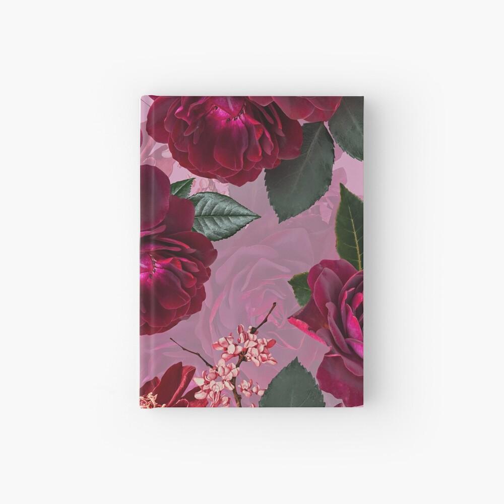 Antique Purple Botanical Flower Rose Garden Hardcover Journal