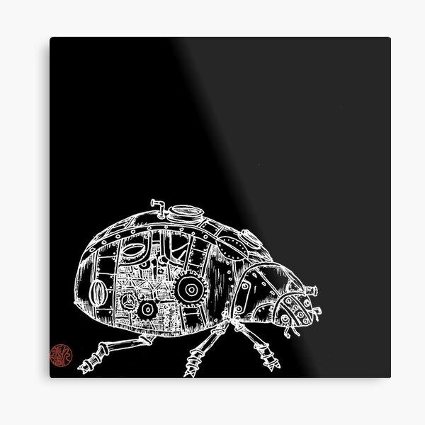 Steampunk Beetle Metal Print