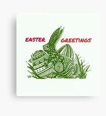Easter Bunny Easter Greetings Metal Print