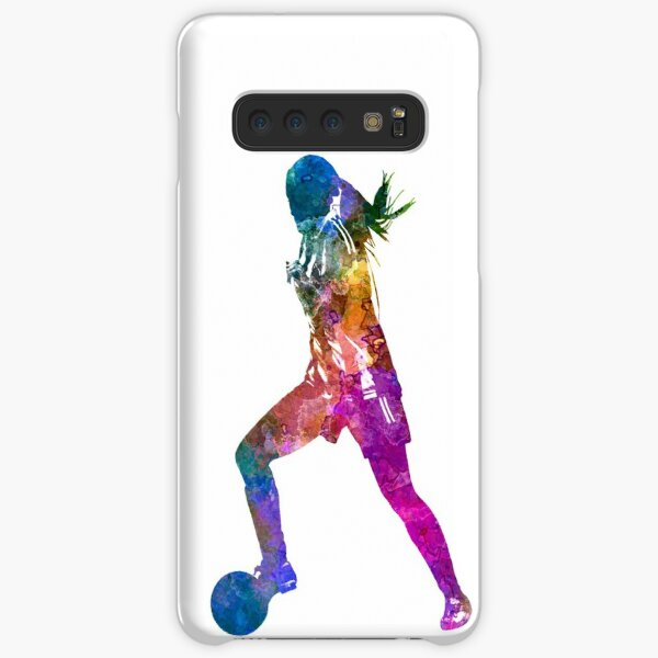 Girl playing soccer football player silhouette Samsung Galaxy Snap Case