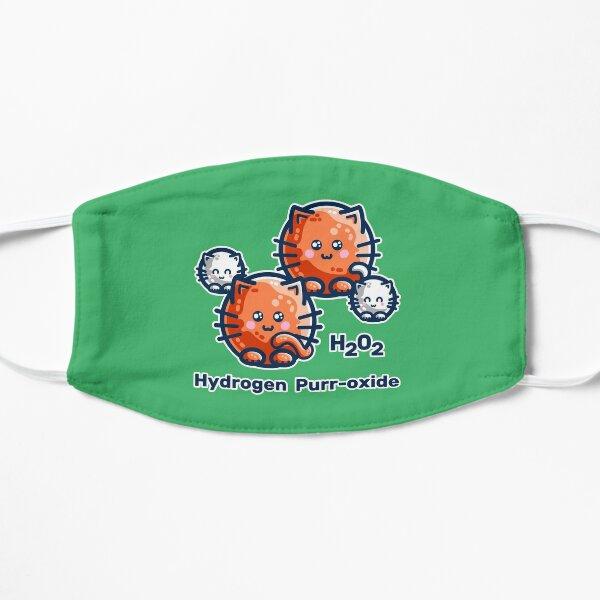 Hydrogen Purr-oxide Cat Chemistry Pun Flat Mask