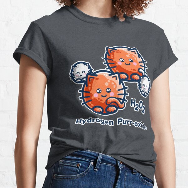 Hydrogen Purr-oxide Cat Chemistry Pun Classic T-Shirt