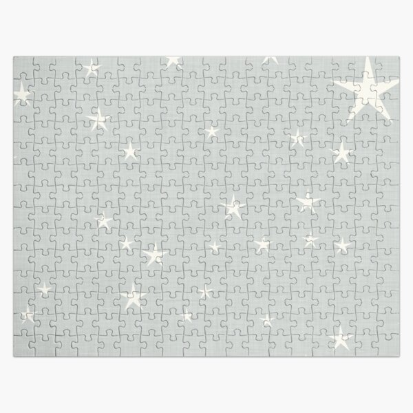 Grey star with fabric texture - narwhal collection Jigsaw Puzzle