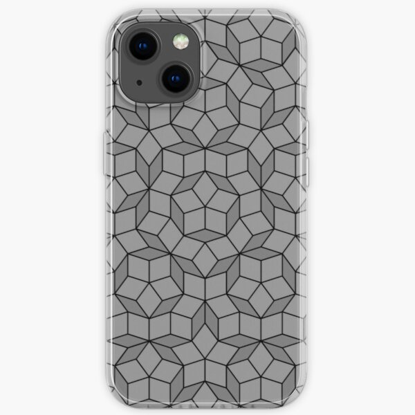Aperiodic tiling - Black and grey iPhone Soft Case