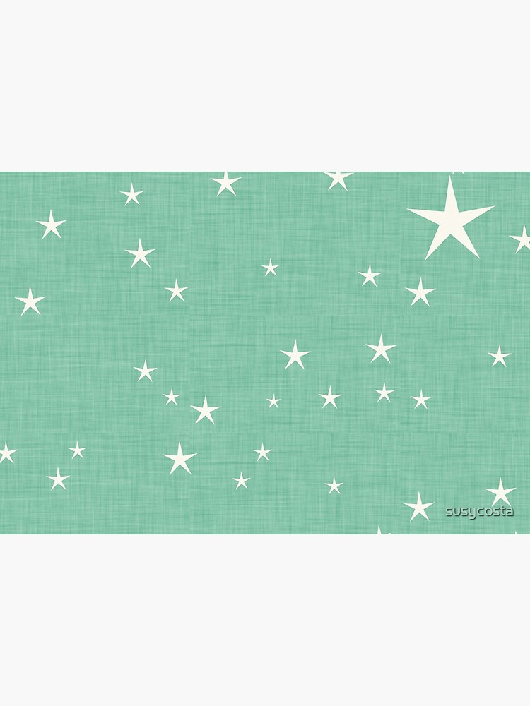 Green star with fabric texture - narwhal collection by susycosta