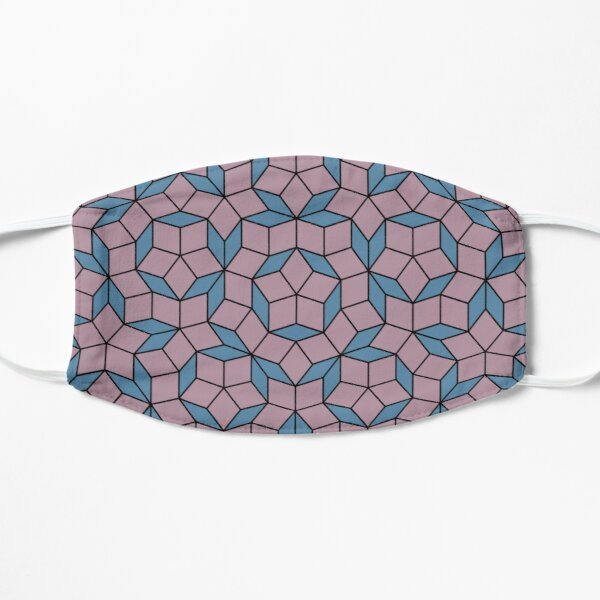 Aperiodic tiling - Blue and pink Flat Mask
