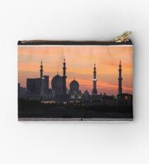 Sheikh Zayed Grand Mosque Sunset Abu Dhabi Studio Pouch