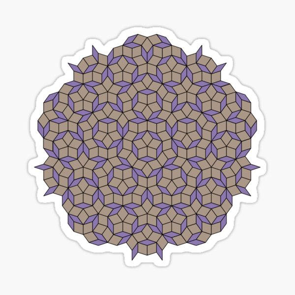 Aperiodic tiling - Purple and yellow Sticker