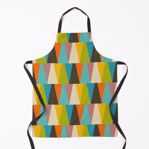 Retro Color Block Triangle Color Happy Apron