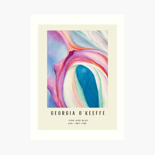 Poster-Georgia O'Keeffe-Pink and Blue. Art Print