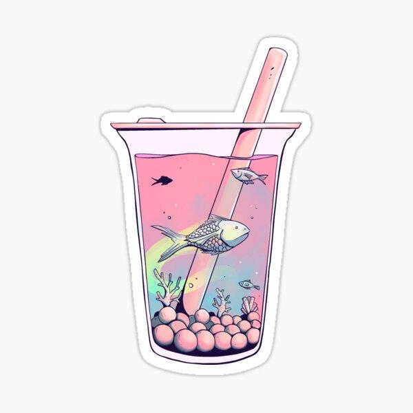 Blub Blub Tea (Salmon Sunset) Sticker