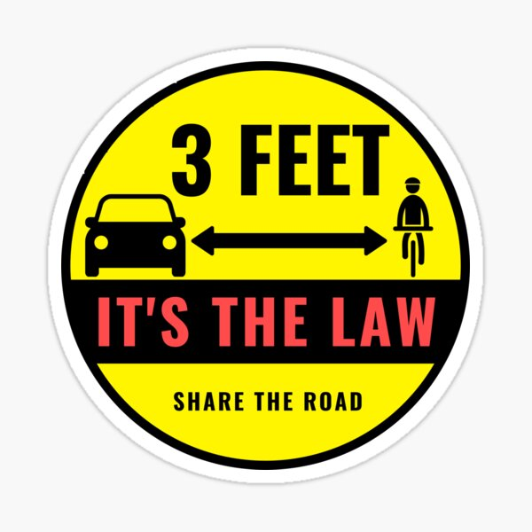3 Feet - It's the Law Sticker