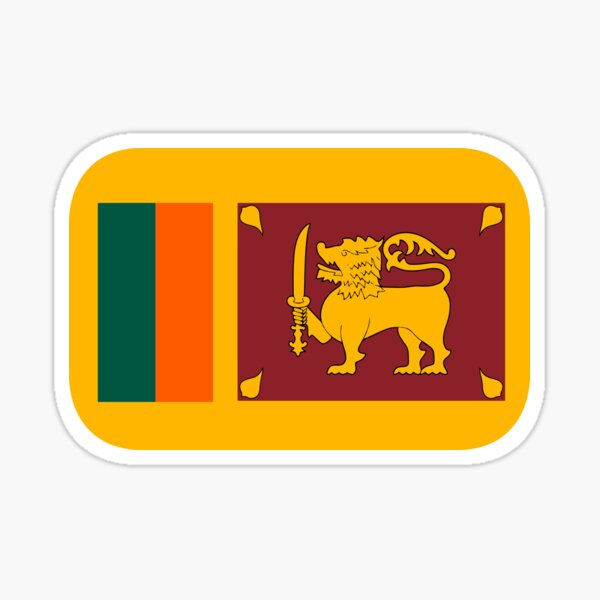 Sri Lanka Flag Stickers Redbubble