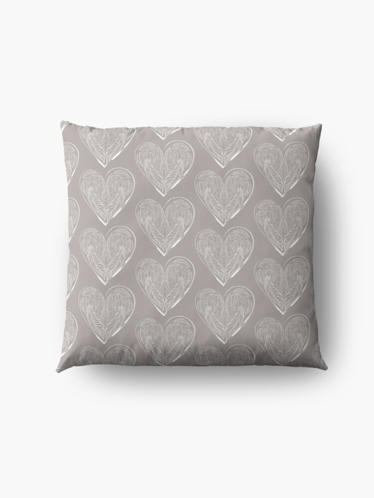 Alternate view of Feathered Love Floor Pillow