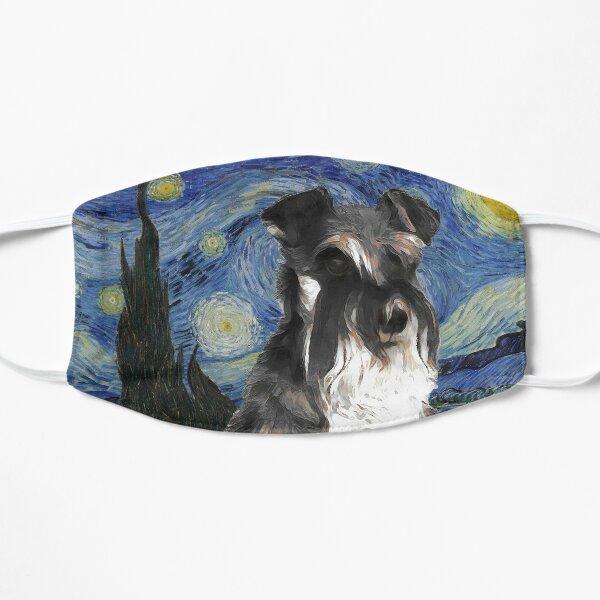 Miniature Schnauzer Mini Schnauzer Dog Art Starry Night Van Gogh Miniature Schnauzer Dog Print Mask