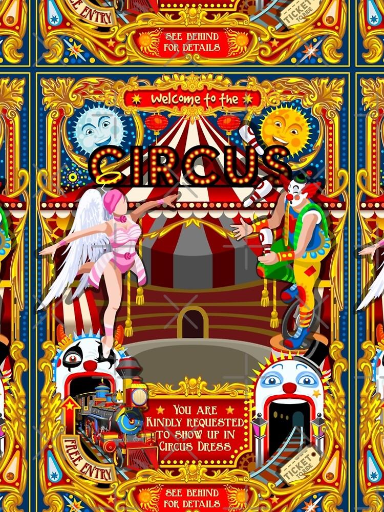 Carnival Circus Amusement Family Theme Park Illustration   by aurielaki