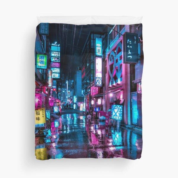 Tokyo at Night - Shimbashi Duvet Cover