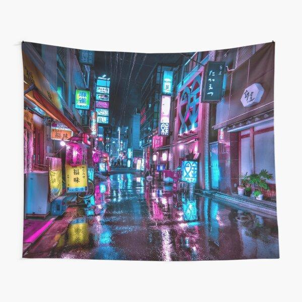 Tokyo at Night - Shimbashi Tapestry