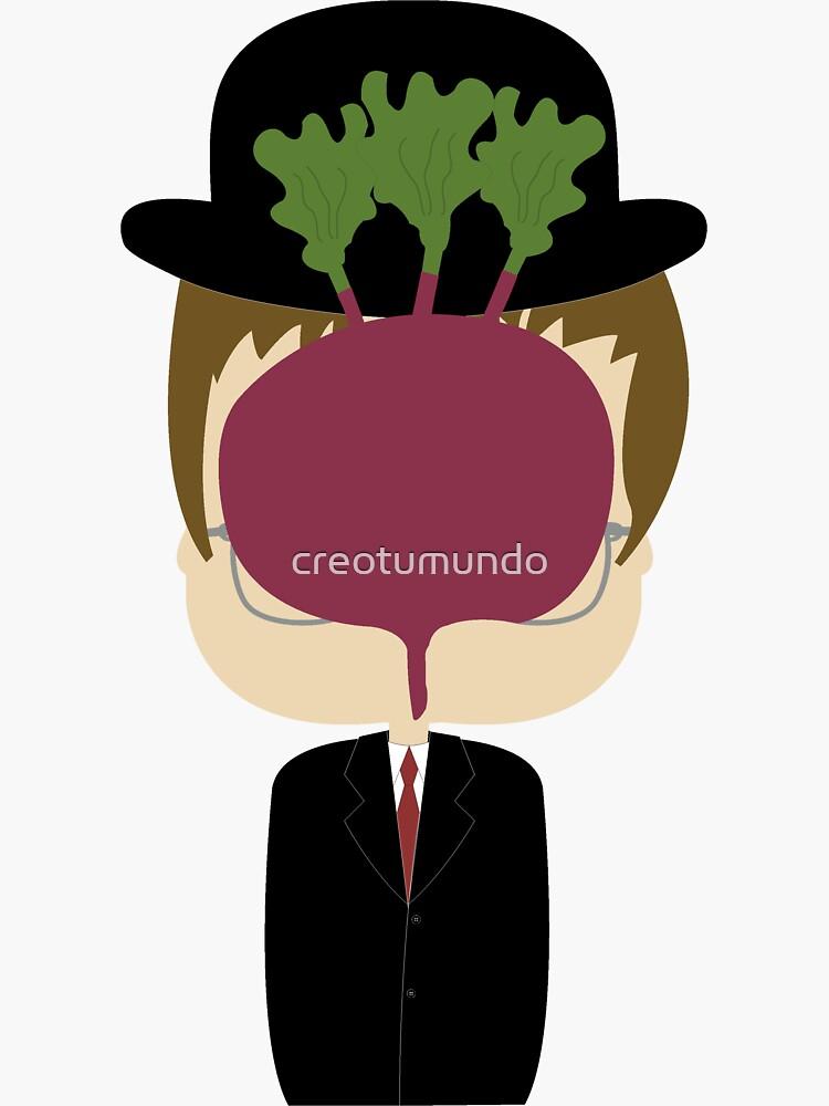 DWIGHT MAGRITTE SCHRUTE de creotumundo