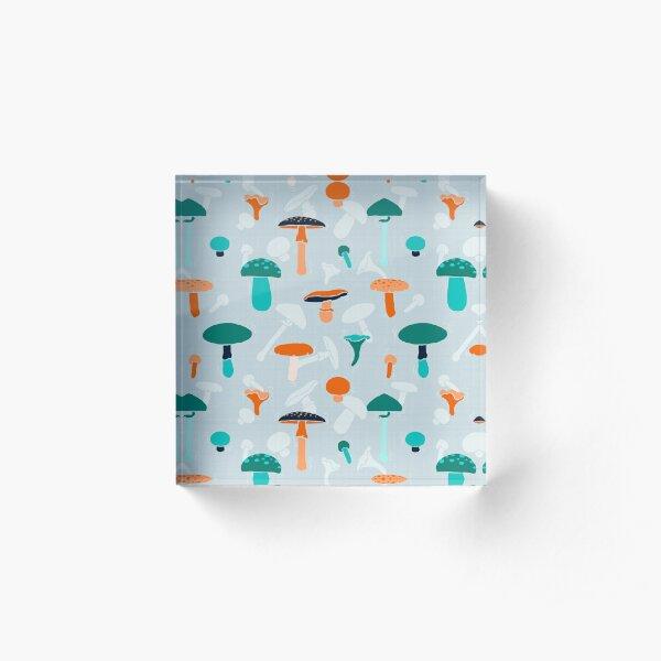 Mushrooms Dance Pattern Acrylic Block