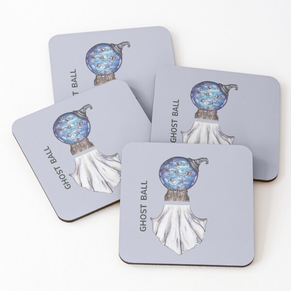 GHOST BALL by FrankenDuo grey lavender Coasters (Set of 4)