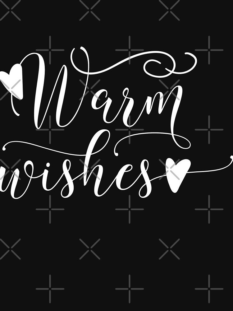 Warm Wishes Typography Christmas Holidays Design by NextLVLShirts