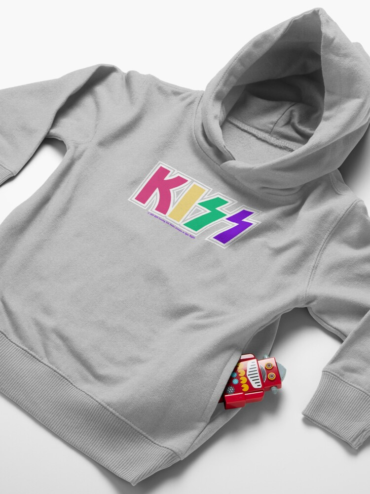 Alternate view of Kiss Band Colorful Logo Toddler Pullover Hoodie