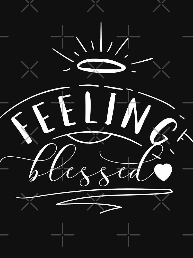 Feeling Blessed Typography Christmas Design by NextLVLShirts