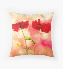 Scarlet Red. Throw Pillow