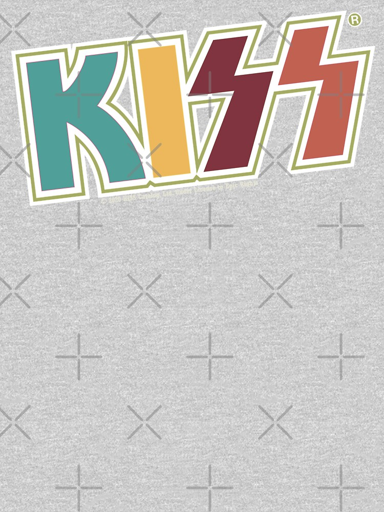 Kiss Band Retro Colors Logo by vibrantyy