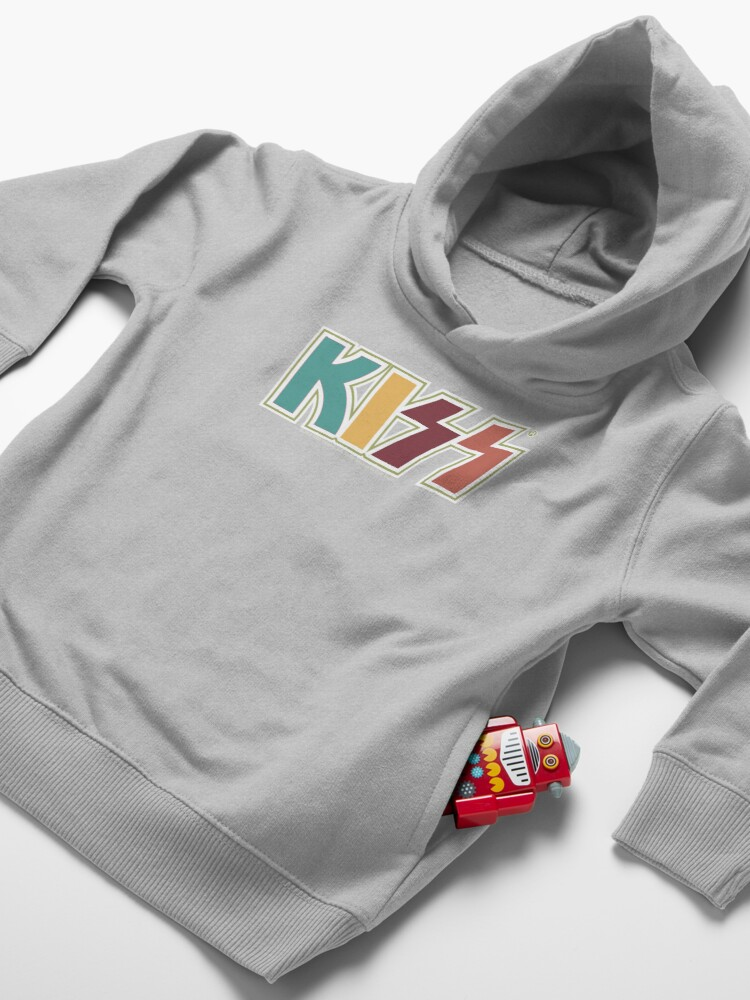 Alternate view of Kiss Band Retro Colors Logo Toddler Pullover Hoodie