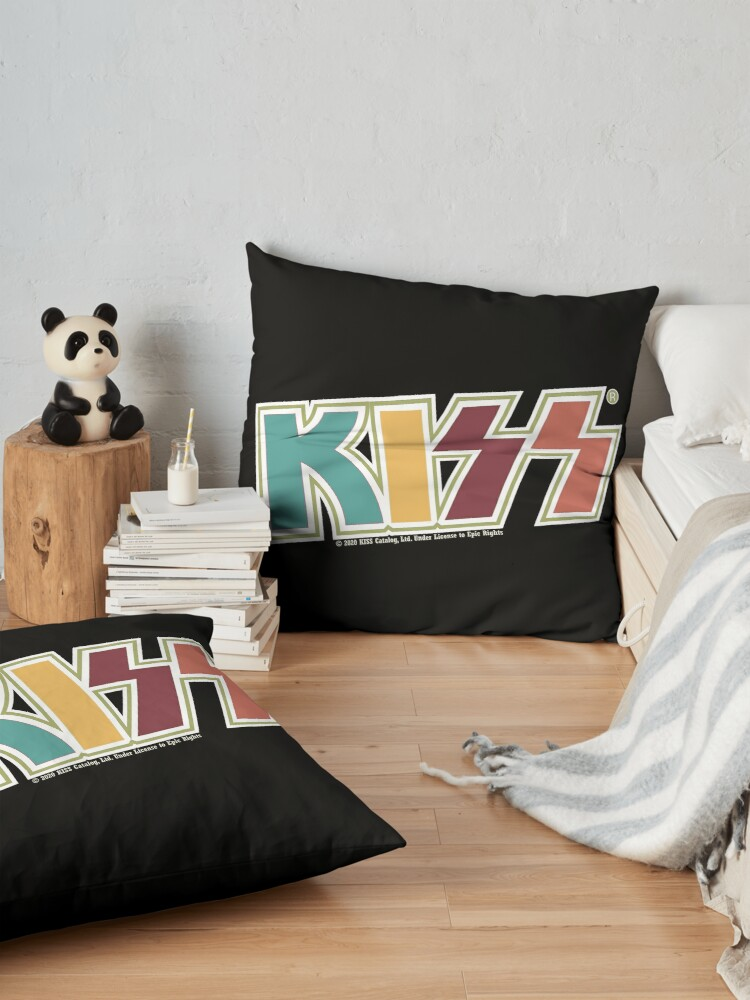 Alternate view of Kiss Band Retro Colors Logo Floor Pillow
