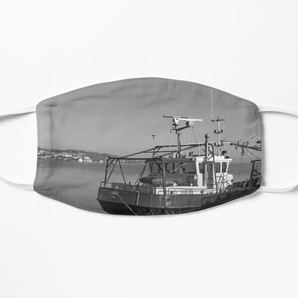 Trawlers at Moville Donegal bw Mask