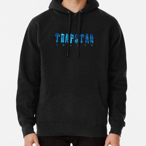 Trapstar Blue Logo Design Pullover Hoodie