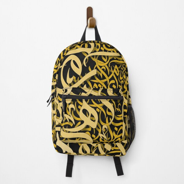 Gold arabic letters Backpack