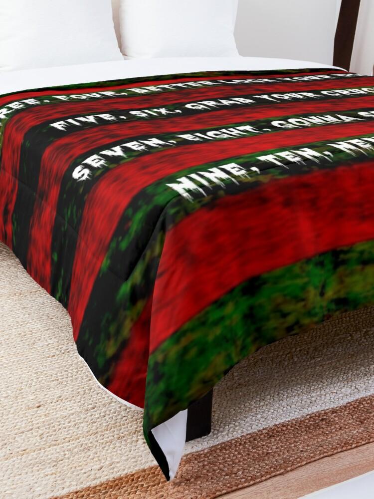 Alternate view of Freddy Krueger Rhyme, A Nightmare On Elm Street Comforter