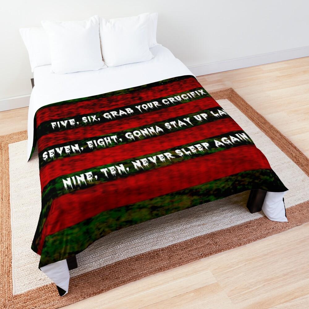 Freddy Krueger Rhyme, A Nightmare On Elm Street Comforter