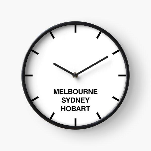 Melbourne/Sydney/Hobart Time Zone Newsroom Wall Clock Clock