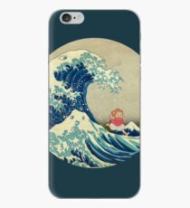 Ponyo and The Great Wave off Kanagawa VINTAGE iPhone Case