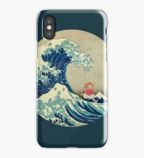 Ponyo and The Great Wave off Kanagawa VINTAGE iPhone Case/Skin