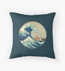 Ponyo und die große Welle vor Kanagawa VINTAGE Dekokissen