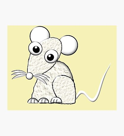 A White Mouse Photographic Print